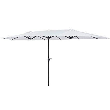 Eisele Rectangular Market Umbrellas Within 2018 Best Choice Products 15' Outdoor Umbrella Double Sided Aluminum Market  Patio Umbrella With Crank (Gallery 8 of 25)