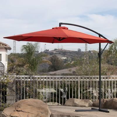 Elaina 4 Piece Teak Sofa Seating Group With Cushions For Famous Elaina Cantilever Umbrellas (View 20 of 25)