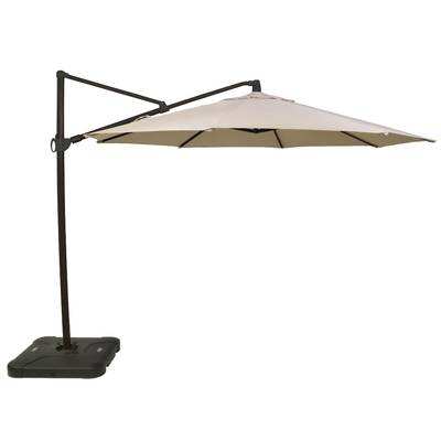 Elaina Cantilever Umbrellas Throughout Fashionable Oakland Living 11' Cantilever Umbrella & Reviews (View 19 of 25)