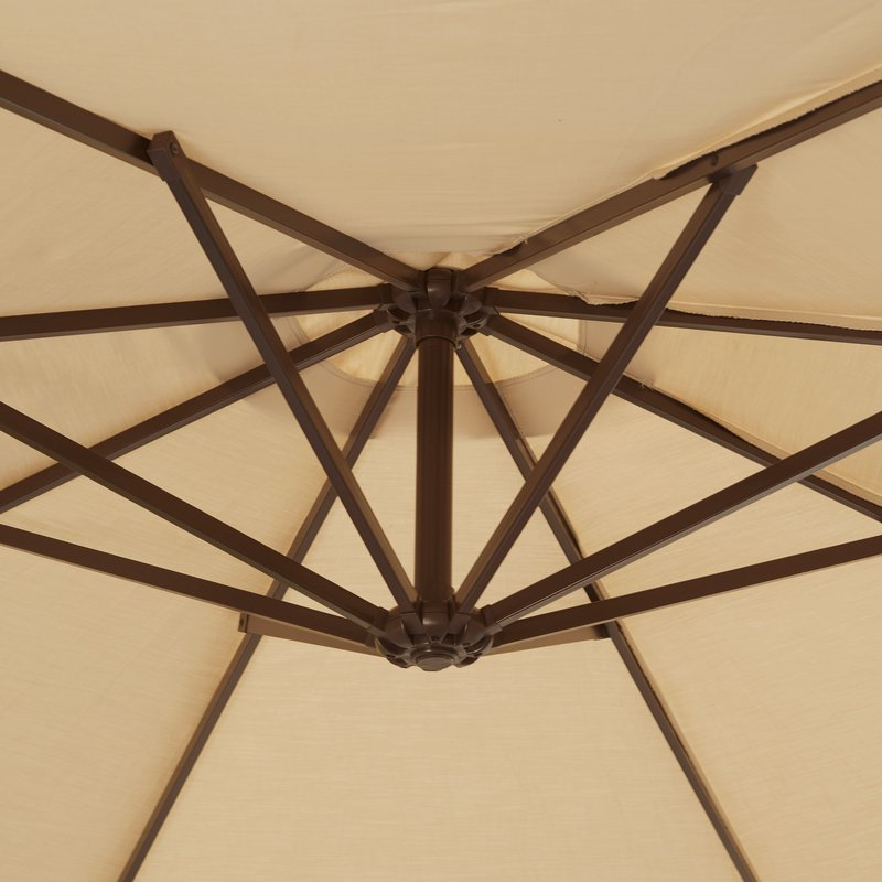 Emely 11' Cantilever Sunbrella Umbrella With 2018 Emely Cantilever Sunbrella Umbrellas (Gallery 3 of 25)