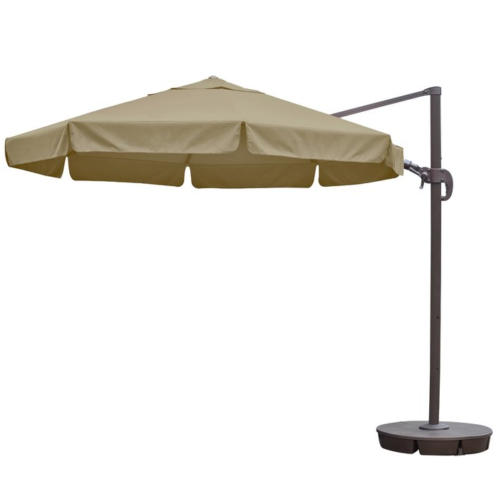 Emely 11' Cantilever Sunbrella Umbrella With Most Up To Date Emely Cantilever Sunbrella Umbrellas (Gallery 17 of 25)