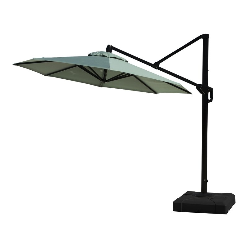 Emely Cantilever Sunbrella Umbrellas For Famous Ceylon 10' Cantilever Sunbrella Umbrella (Gallery 9 of 25)
