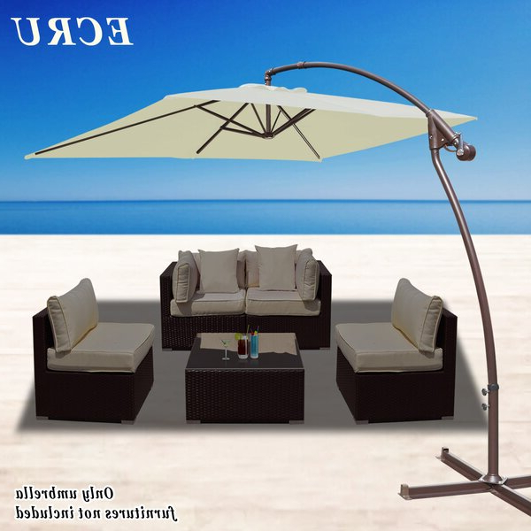 Emely Cantilever Umbrellas with Most Current 8 Ft Cantilever Umbrella