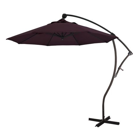 Famous 10Ft Out Door Deck Patio Umbrella Off Set Tilt Cantilever Hanging Regarding Freda Cantilever Umbrellas (View 24 of 25)