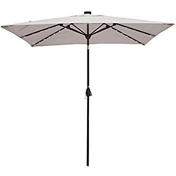 Famous Amazon : Abba Patio 97 Feet Rectangular Patio Umbrella With With Regard To Griselda Solar Lighted  Rectangular Market Umbrellas (View 7 of 25)