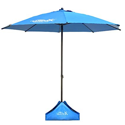 Famous Beach Umbrellas For Xbrellas High Wind Resistant Beach Umbrella – Sand Base – (View 9 of 25)