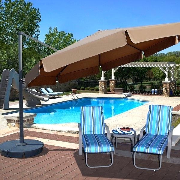 Famous Carlisle Cantilever Sunbrella Umbrellas With Sunbrella Cantilever Umbrella (View 15 of 25)