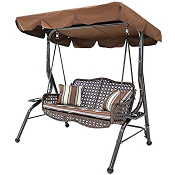 Famous Darwen Tiltable Patio Stripe Market Umbrellas In Amazon : Abba Patio 2 Person Adjustable Canopy Porch Swing With (View 10 of 25)