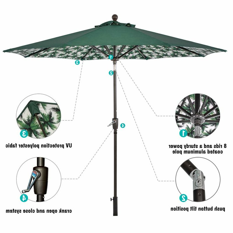 Famous Hurt Market Umbrellas Intended For Hurt 9' Market Umbrella (View 2 of 25)