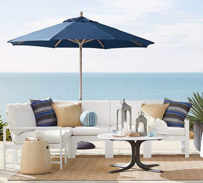 Famous Sand Ceramic Side Table With Handles With Spitler Square Cantilever Umbrellas (View 18 of 25)