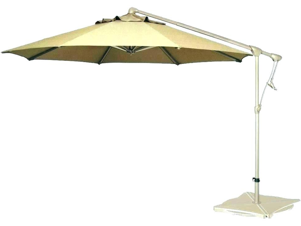 Famous Simply Shade Offset Patio Umbrella – Fkrauss (View 17 of 25)