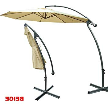 Famous Strong Camel 10' Cantilever Patio Umbrella Offset Hanging Banana Sunshade  Garden Beige With Tallulah Sunshade Hanging Outdoor Cantilever Umbrellas (View 10 of 25)