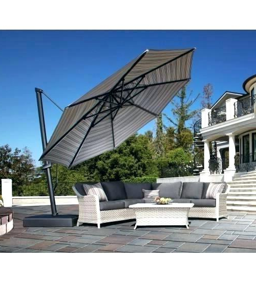 Famous Sunbrella Cantilever Umbrella With Carlisle Cantilever Sunbrella Umbrellas (View 16 of 25)