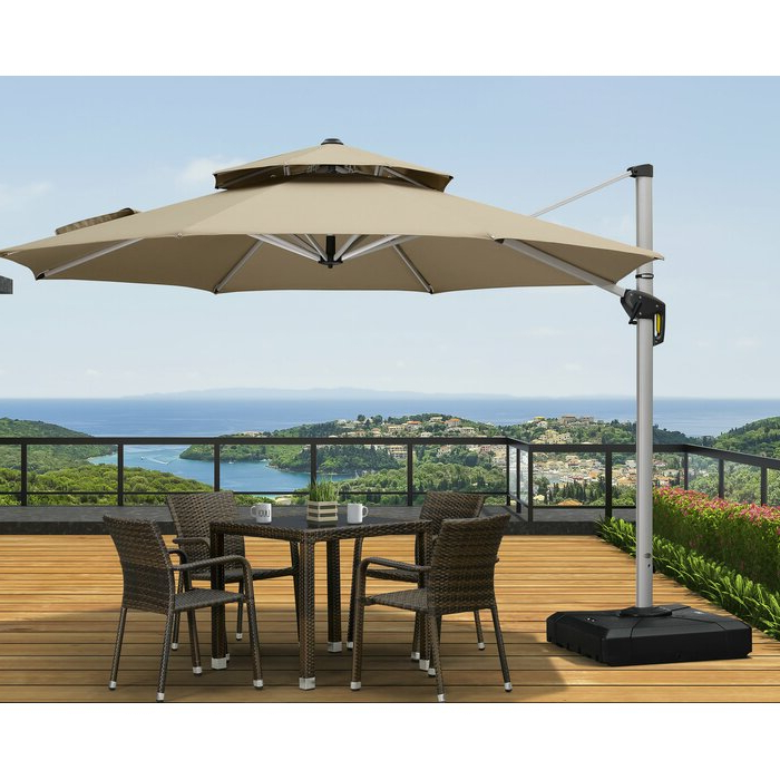 Famous Voss 11' Cantilever Sunbrella Umbrella Throughout Voss Cantilever Sunbrella Umbrellas (View 3 of 25)