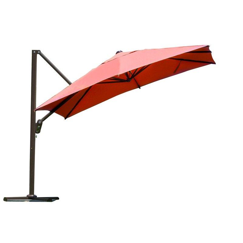 Famous Windell Square Cantilever Umbrellas Regarding 9' Square Cantilever Umbrella (View 13 of 25)
