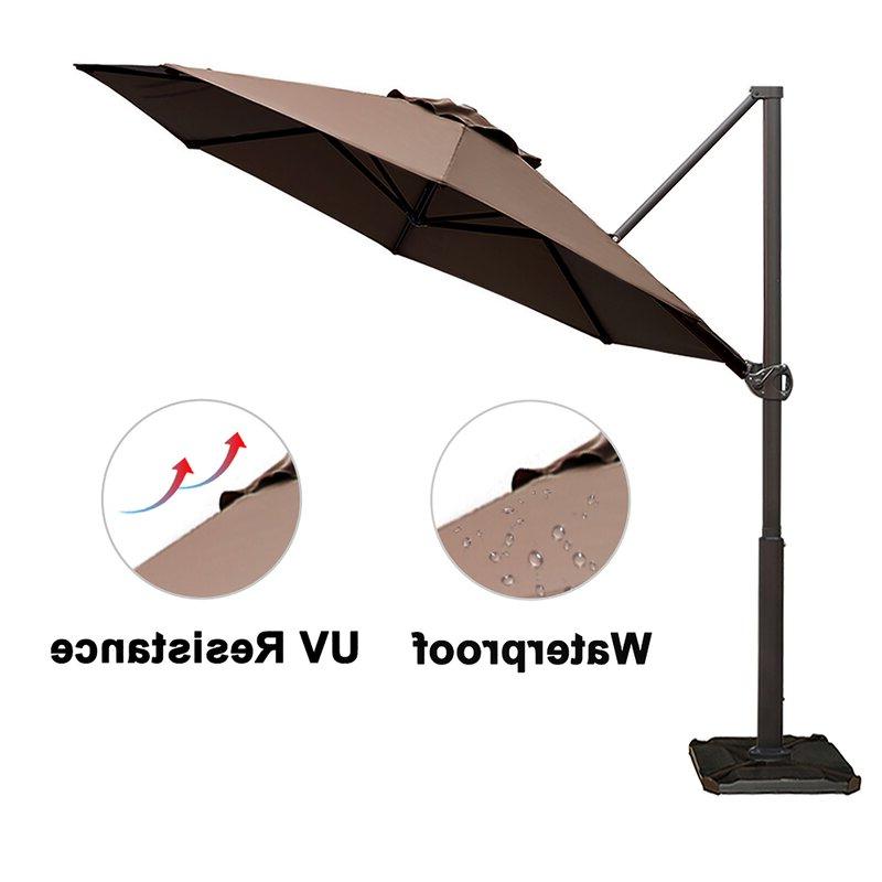 Farnham Cantilever Umbrella With 2018 Farnham Cantilever Umbrellas (View 3 of 25)