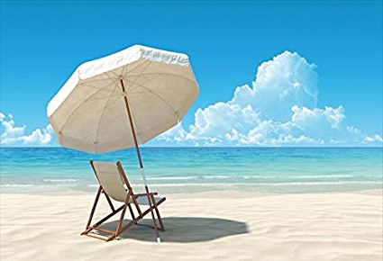 Fashionable Amazon : Laeacco Summer Holiday Beach Umbrella Backdrop 7X5Ft In Seaside Beach Umbrellas (View 20 of 25)