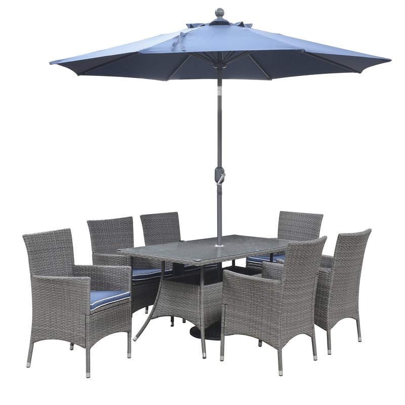 Fashionable Brame Market Umbrellas With Regard To Morecambe 9' Market Umbrella (View 10 of 25)