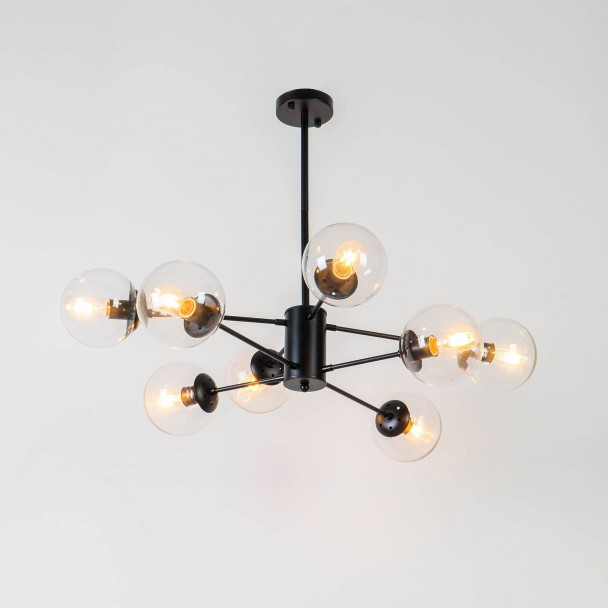 Fashionable Brecht Lighted Umbrellas Intended For Star Shaped Pendant Light 8 Spheres – Brecht (View 21 of 25)