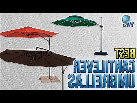 Fashionable Dore Patio Cantilever Umbrellas Intended For 8 Best Cantilever Umbrellas 2018 – Youtube (View 8 of 25)