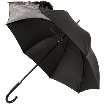 Fashionable Drape Umbrellas Within Drape Bow Umbrella In Black And Lacechantal Thomass (View 23 of 25)