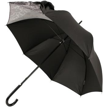 Fashionable Drape Umbrellas Within Drape Bow Umbrella In Black And Lacechantal Thomass (View 12 of 25)