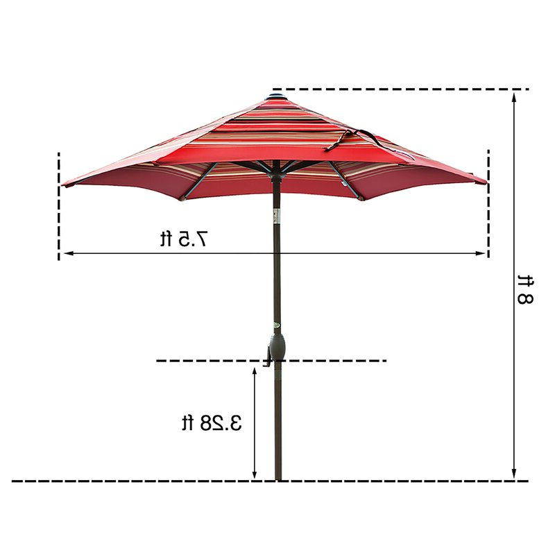 Fashionable Filey 8' Market Umbrella Throughout Filey Market Umbrellas (View 5 of 25)