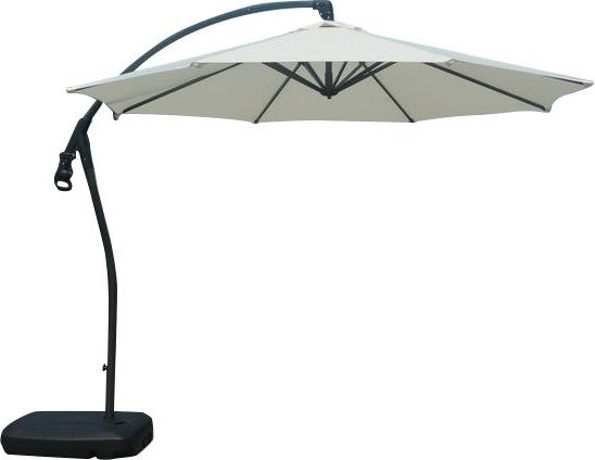 Fashionable Jalynn 10' Cantilever Umbrella Throughout Brecht Lighted Umbrellas (View 11 of 25)