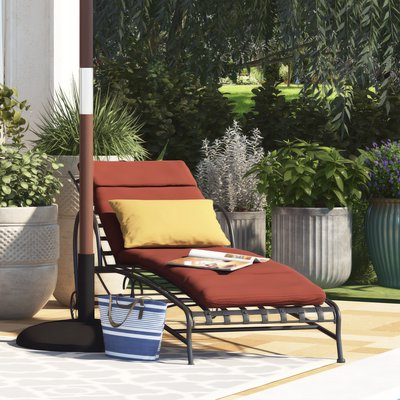 Fashionable Kedzie Outdoor Cantilever Umbrellas Within Alcott Hill Polyester Indooroutdoor Chaise Lounge Cushion (View 24 of 25)