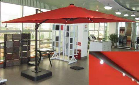 Fashionable Oakengrove Outdoor Large Cantilever Umbrella In Linen P017 991 Regarding Alyssa Freeport Park Market Umbrellas (View 14 of 25)