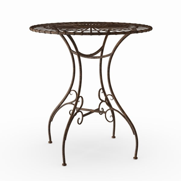 Fashionable Shop Handmade Rustic Rust Patina Garden Table (China) – Free Regarding Windell Square Cantilever Umbrellas (View 10 of 25)