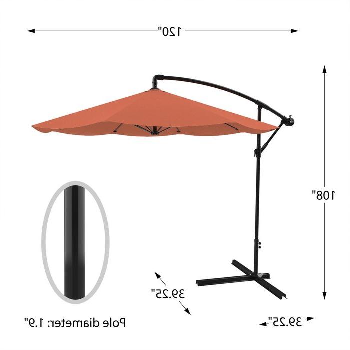 Fashionable Vassalboro 10' Cantilever Umbrella Within Vassalboro Cantilever Umbrellas (View 3 of 25)