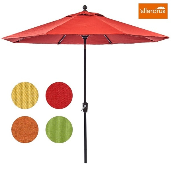 Fashionable Wiebe Market Sunbrella Umbrellas With Regard To Shop Dali Patio Umbrella, 9 Ft Aluminum Patio Market Outdoor Table (View 6 of 25)