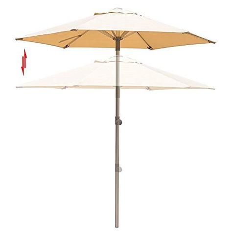Fashionable Wieczorek Auto Tilt Rectangular Market Sunbrella Umbrellas Within California Umbrella 9 Ft (View 6 of 25)