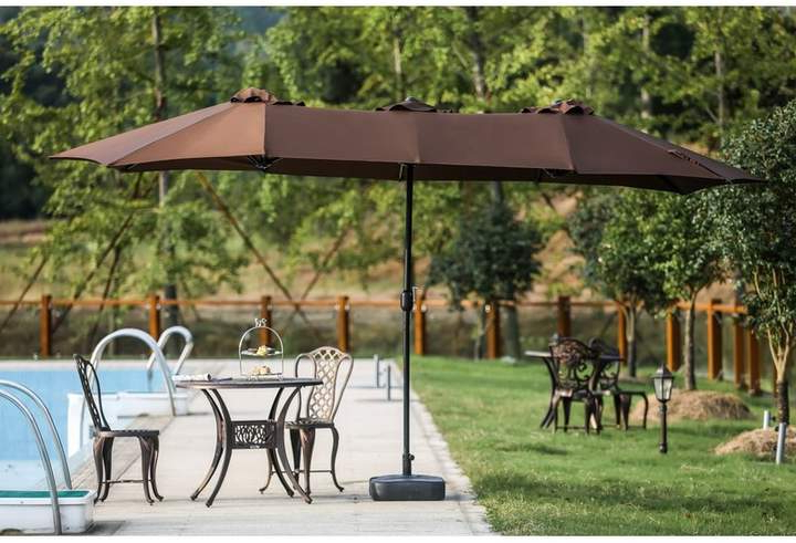 Fashionable Zadie Twin 15' X 9' Rectangular Market Umbrella In  (View 6 of 25)