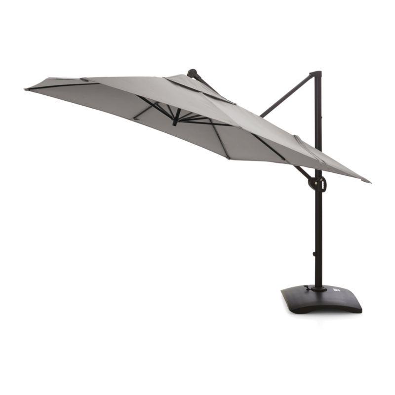 Favorite 10' Sunbrella ® Silver Square Cantilever Umbrella (View 7 of 25)