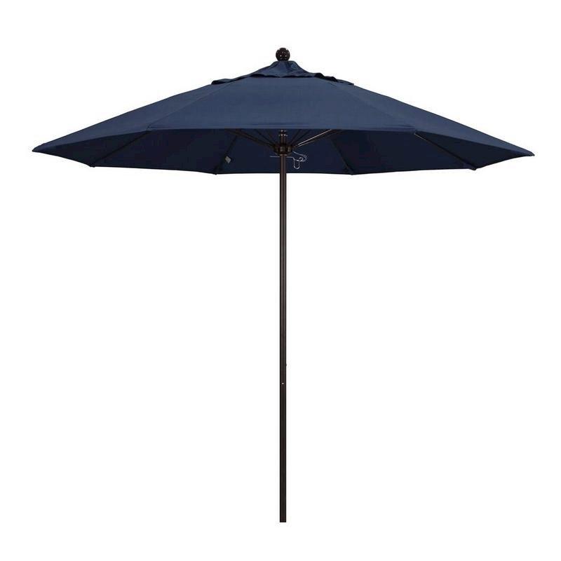 Favorite Bayside Series Cantilever Umbrellas Throughout 9' Venture Series Patio Umbrella With Bronze Aluminum Pole Fiberglass Ribs Push Lift With Sunbrella 1A Spectrum Indigo Fabriccalifornia Umbrella (View 20 of 25)