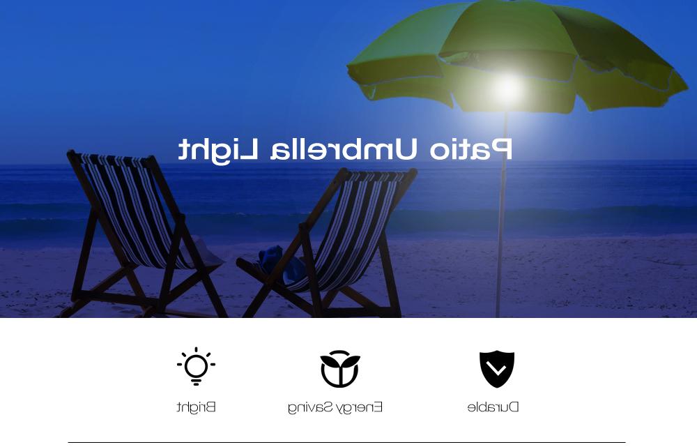 Favorite Blue Patio Umbrella With Solar Lights (1) Reviews Cantilever Umbrella With  Led Lights 36 Leds Patio Umbrella Light With Battery Usb Cable For Judah Cantilever Umbrellas (View 21 of 25)