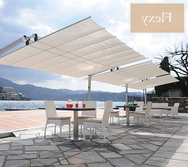 Favorite Cantilever Umbrellas Within Commercial Cantilever Umbrella (View 15 of 25)