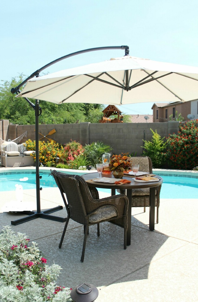 Favorite Irven Cantilever Umbrellas In Taste Of Summer – Sponsoredwayfair – A Stroll Thru Life (View 10 of 25)