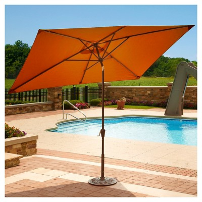 Favorite Island Umbrella Adriatic Market Umbrella In Terra Cotta Olefin –  (View 14 of 25)