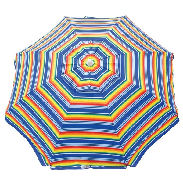 Favorite Margaritaville Green And Blue Striped Beach With Built In Sand Anchor Umbrellas Pertaining To Shop Rio Beach 6 Ft (View 7 of 25)