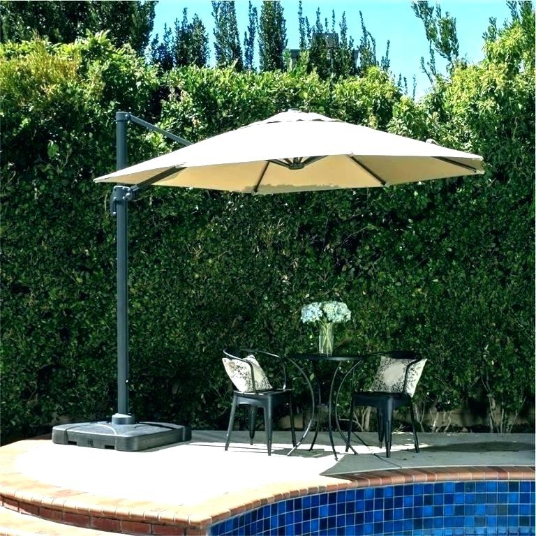 Favorite Phat Tommy Cantilever Umbrellas With Regard To Black Patio Umbrella 9 Outdoor Stand – Venusmahe (View 5 of 25)