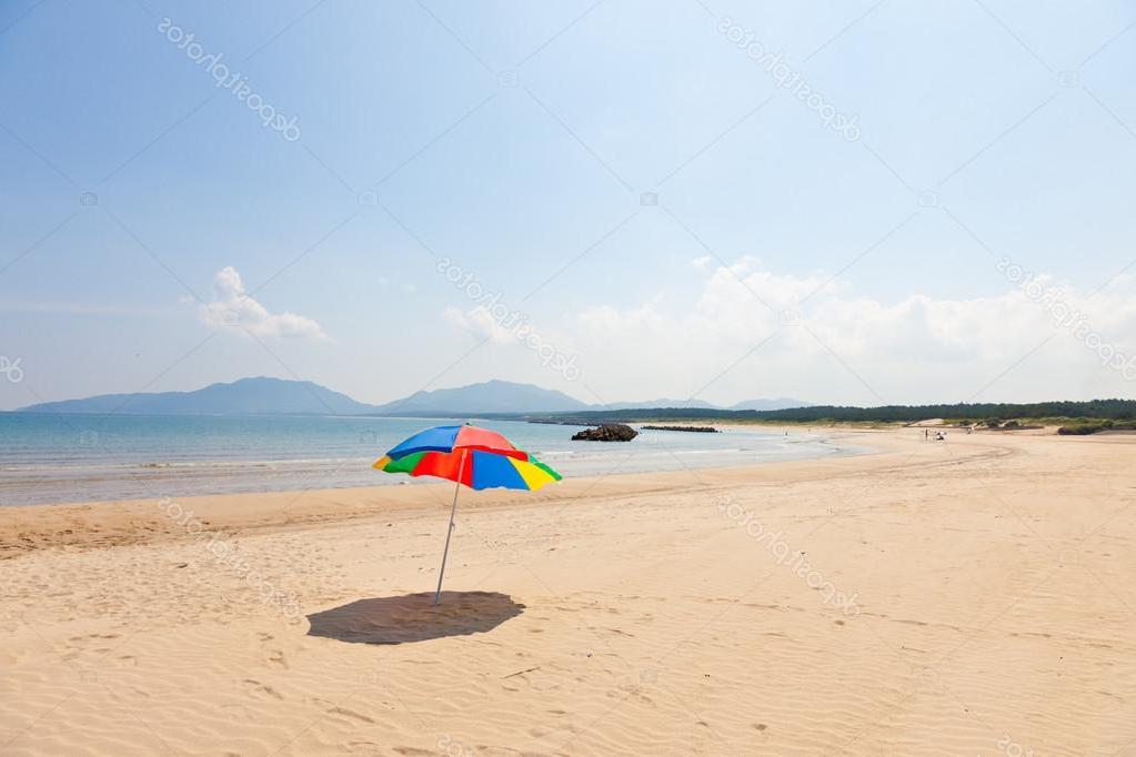 Favorite Seaside Beach Umbrella — Stock Photo © Kenjii #18378975 Within Seaside Beach Umbrellas (View 6 of 25)