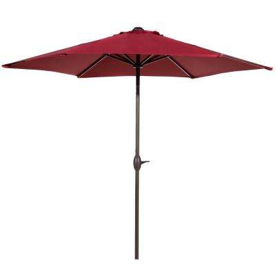 Favorite Solid Market Umbrellas For Abba Patio – Solid – Patio Umbrellas – Patio Furniture – The Home Depot (View 11 of 25)