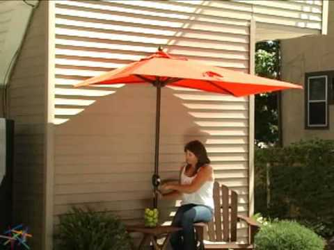 Favorite The Better Half Patio Umbrella – Product Review Video With Regard To Half Round Market Umbrellas (View 5 of 25)