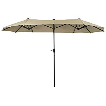 Favorite Zadie Twin Rectangular Market Umbrellas Intended For Amazon : Best Choice Products 15X9Ft Large Rectangular Outdoor (View 8 of 25)