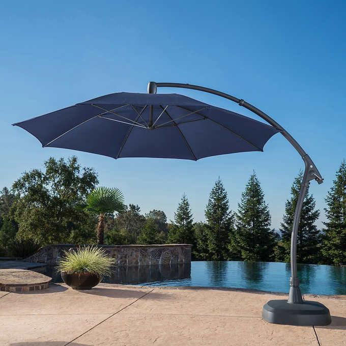 Fazeley  Rectangular Cantilever Umbrellas Intended For Popular Proshade 11' Cantilever Umbrella In  (View 13 of 25)