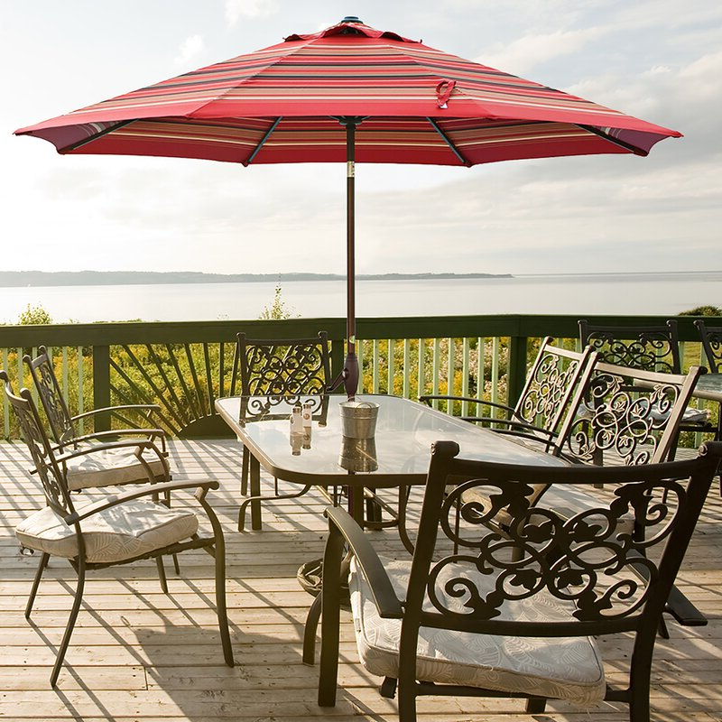 Featherste 11' Market Umbrella With Regard To Most Recently Released Isom Market Umbrellas (View 6 of 25)