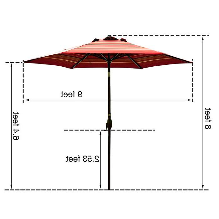 Fleetwood Market Umbrellas Pertaining To Most Recent Fleetwood 9' Market Umbrella (View 20 of 25)